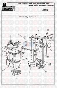 Ideal Classic 40nf  Boiler Assembly 1  Diagram