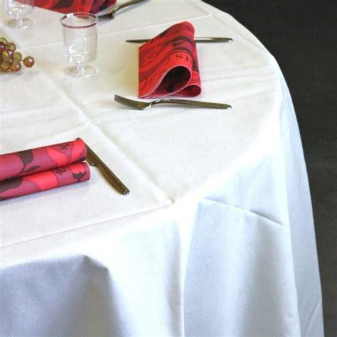 nappe ronde 240 blanche nappes en non tiss 233 blanche ronde 240 cm vaisselle jetable discount