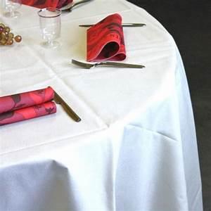 Nappe Blanche Ronde : nappes en non tiss blanche ronde 240 cm vaisselle jetable discount ~ Teatrodelosmanantiales.com Idées de Décoration