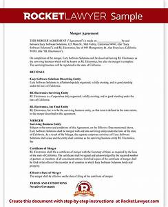 merger agreement form merger agreement template with With merger of documents