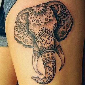 Nice Tribal Elephant Tattoo