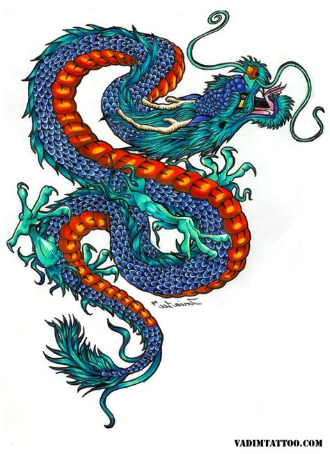 chinese dragon tattoo designs  meanings