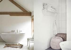 Déco Salle De Bains : une salle de bains en blanc et bois joli place ~ Melissatoandfro.com Idées de Décoration