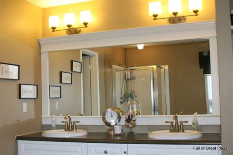Ideas For Bathroom Mirrors Of Great Ideas How To Upgrade Your Builder Grade Mirror Frame It
