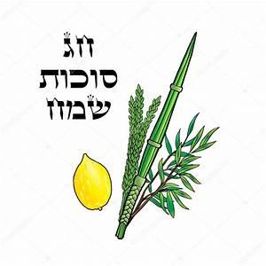 Sukkot. Happy Sukkot background. Hebrew translate: Happy ...