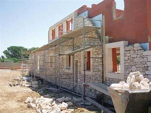 Construction En Pierre : construction d 39 un mas en pierre dans le gard ~ Premium-room.com Idées de Décoration