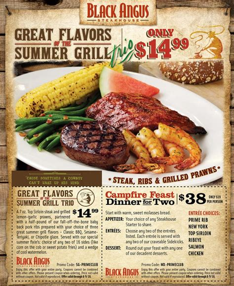 dining deals black angus steakhouse campfire feast