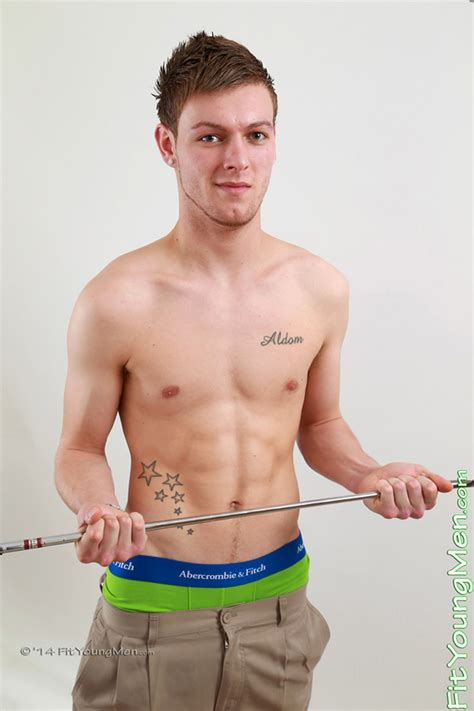 Fit Young Men Model James Henderson Golf Professional Tall Lean Young Pup James Shows Off