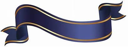 Banner Ribbon Transparent Clipart Clip Azul Banners
