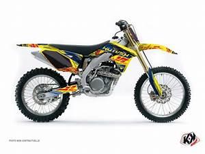 Moto Cross Suzuki : kit d co moto cross eraser suzuki 250 rmz bleu jaune kutvek kit graphik ~ Louise-bijoux.com Idées de Décoration