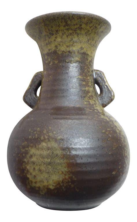 mid century modern japanese studio pottery vase chairish