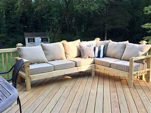 ana white outdoor sofa with one arm piece to make With make outdoor sectional sofa