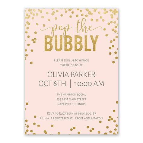 Evites Bridal Shower - bubbly bridal shower invitation s bridal bargains