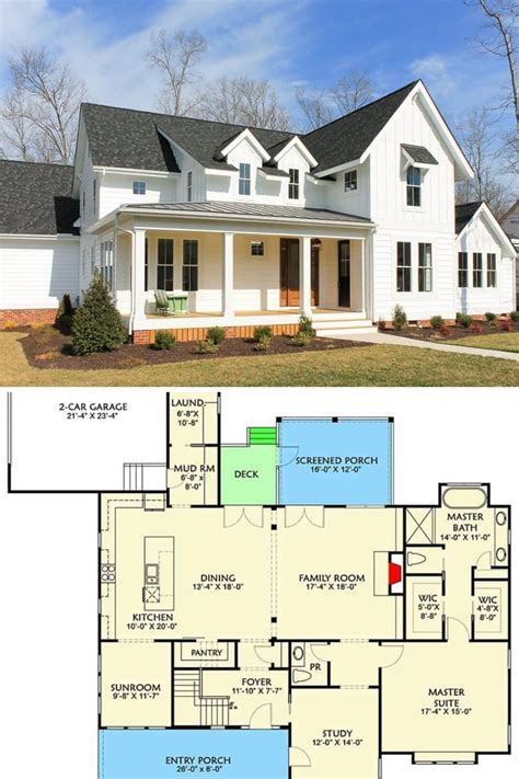 4 Bedroom Two Story Farmhouse with Open Floor Plan in 2020