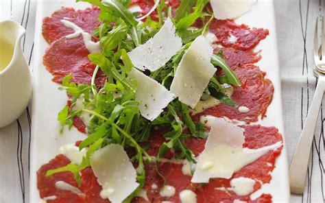 what is carpaccio beef carpaccio with rocket parmesan and aioli