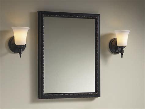 Aluminum Medicine Cabinet With Bronze-framed Mirror Door