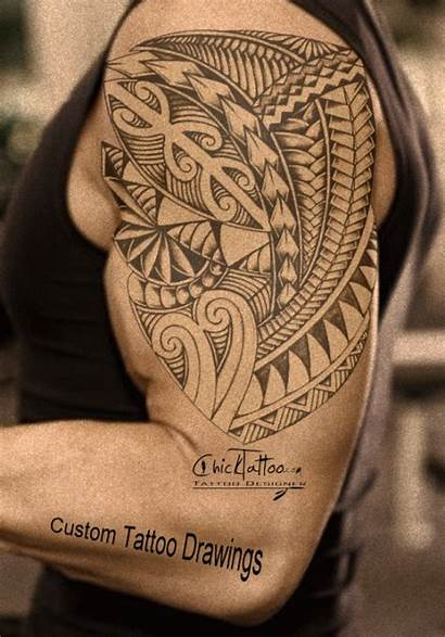 Tattoo Chicktattoo Polynesian Tattoos Drawings Tribal Sleeve