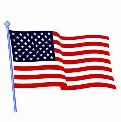 Flag Clipart Waving United States Animated Usa