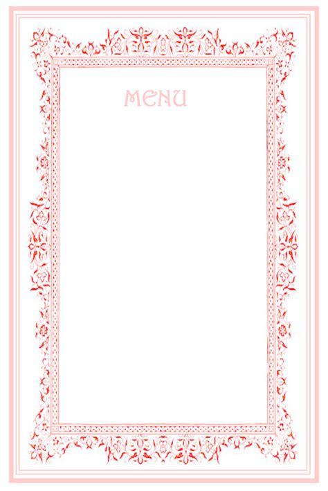 Tea Menu Template by 7 Best Images Of Menu Templates Printable Wedding