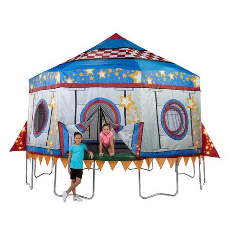 15ft trampoline rocket tent : Bazoongi Jump King Rocket Trampoline Tent at Hayneedle
