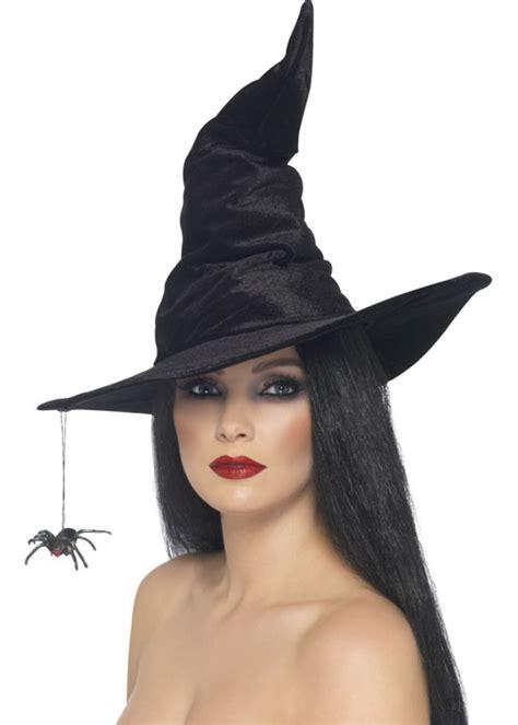 velvet witch hat black velvet witch hat with spider