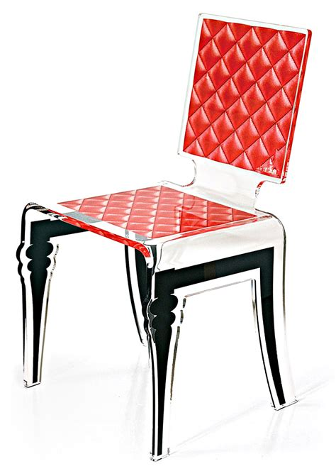 chaises rouges chaise plexi