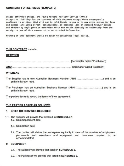 service agreement template free service contract template beepmunk