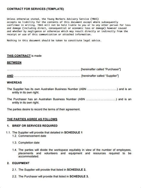 Service Contract Template Service Contract Template Beepmunk