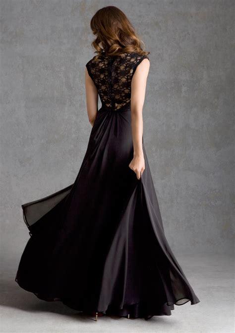 lace  chiffon bridesmaid dress  illusion  style