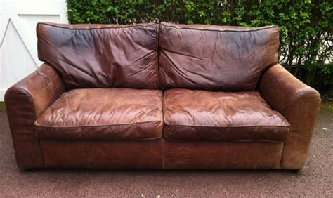 shabby chic leather sofa putting the tea in teacher buying ebay furniture