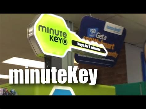 copying  key   minutekey kiosk  walmart youtube