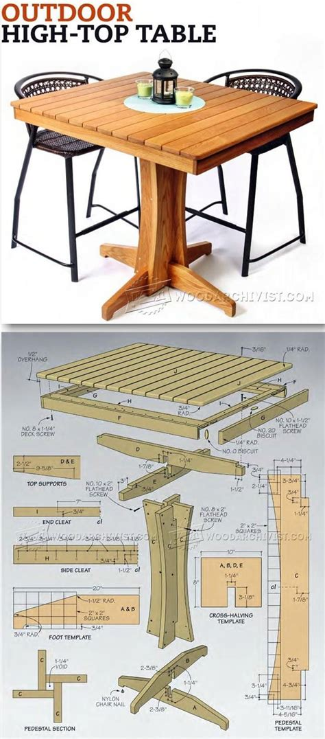 high top patio table plans 17 best ideas about outdoor furniture plans on