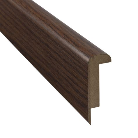 pergo stair nose shop pergo 2 37 in x 78 74 in hs nutmeg hickory stair nose floor moulding at lowes com