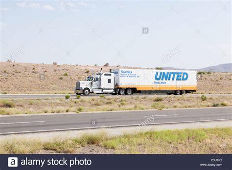 Semi-tractor Towing Moving Van United Van Lines I-10 ...