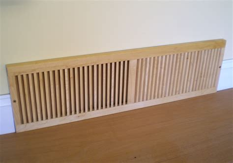 Decorative Cold Air Return Grilles by Louvered Wood Vent Covers Wooden Finishings Cold Air