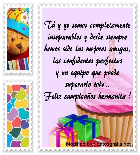 Bonitos Mensajes De Cumpleaños Para Mi Hermana