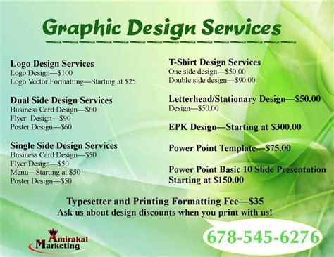 web design pricing graphic design amirakalmarketing