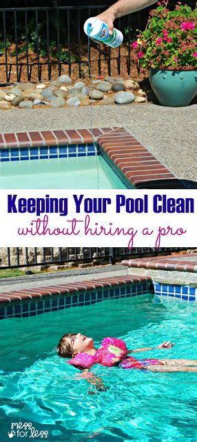 pool water clean   service mess