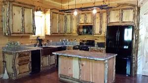 aspen log cabinets and furniture traditional kitchen With kitchen cabinets lowes with aspen candle holders
