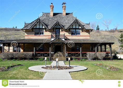 historic  century ranch house stock photo image