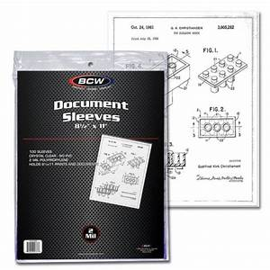 case of 1000 bcw 85 x 11 soft poly archival document With acid free document sleeves