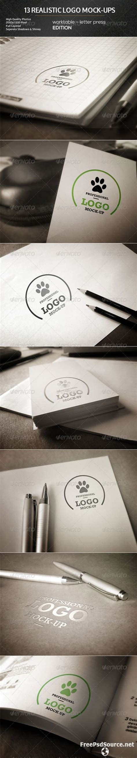 Bring your next project to life with thousands, easy to use creative product mockups. Download GraphicRiver Realistic Logo Mock-Ups Worktable ...