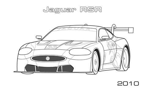 jaguar rsr coloring page car coloring pages