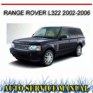 auto repair manual online 2006 land rover range rover sport navigation system range rover l322 2002 2006 service repair manual dvd ebay