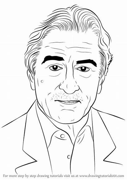 Robert Draw Niro Drawing Celebrities Step Tutorials