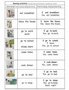 Verbs  Morning Activities Group 2