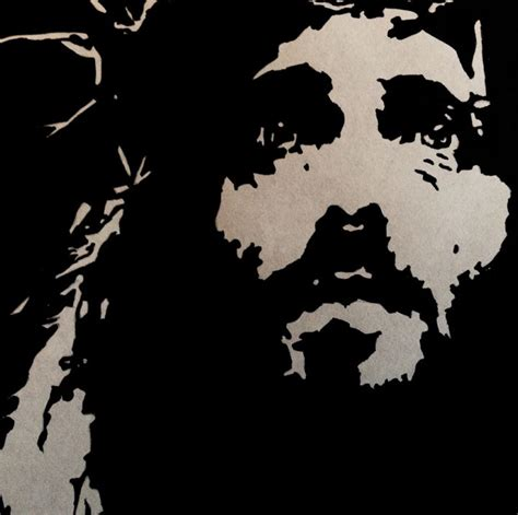 Abstract Black And White Jesus Painting by Pop Jesus Jayson Drawings