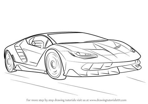 learn   draw lamborghini centenario sports cars