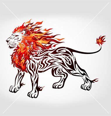 tribal flame lion vector  vectorstock design inspiration tribal lion tattoo tribal lion