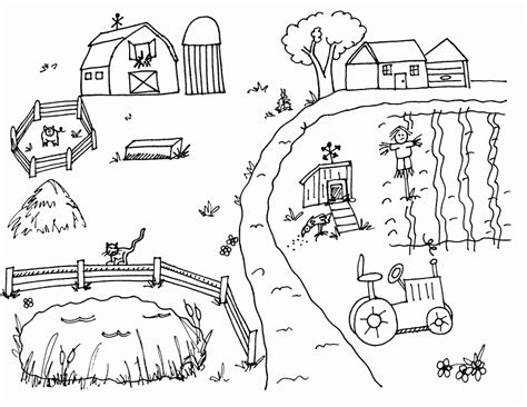farm coloring pages for preschool coloring home 820 | pT5bMyjqc
